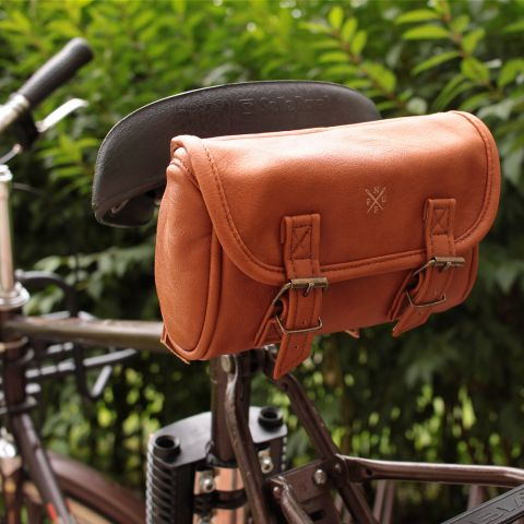 Nuff classic bicycle saddle bag | Brown