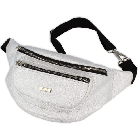 Nuff Sparkle womens fanny pack - white silver