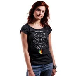 Top damski - Nuff Lion Roots Wear 01213 - graphite melange