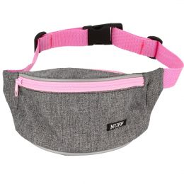 Nuff Kids hip fanny pack | Gray and pink