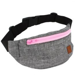 Nuff Kids hip fanny pack | Gray melange and pink
