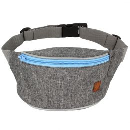 Nuff Kids hip fanny pack | Gray and blue