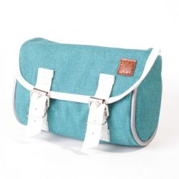 Nuff classic bicycle saddle bag | Turquoise