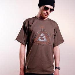 Tshirt męski - Nuff Wear - Wood & Chain 00513 - brown