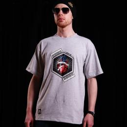 Tshirt męski - Nuff Wear heart 01713 - gray