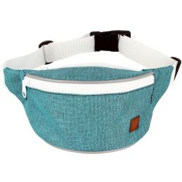 Nuff Kids hip fanny pack | Turquoise and white
