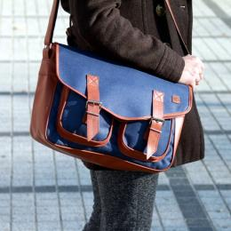 Womens Nuff Wear Satchel bag - navy