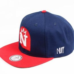 Nuff Wear snapback cap - Navy & Red