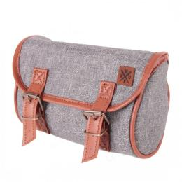 Nuff classic bicycle saddle bag | gray