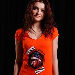 Top damski - Nuff Wear Heart tshirt 01713 - neon orange