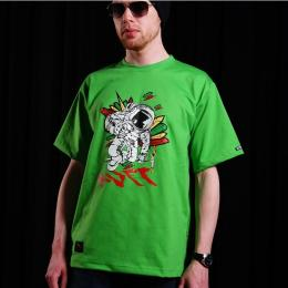 Tshirt męski - Nuff Wear Spaceman 01113 - green