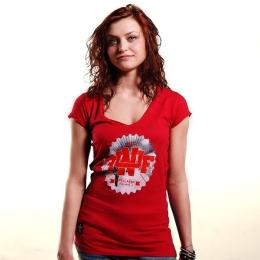 Nuff College 0713 women's t-shirt - dep red