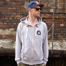 Nuff wear gray zip Hoody I