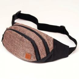 Nuff Bum bag - brown & black