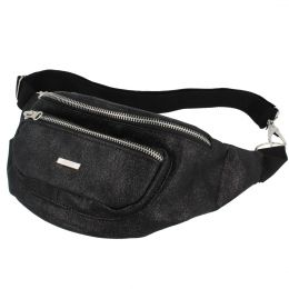 Nuff Sparkle womens fanny pack - glossy black