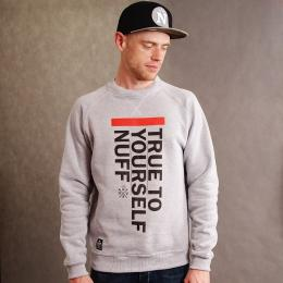 Nuff wear Classic fit - True To Yourself sweatshirt - gray