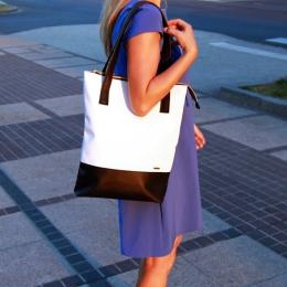 Ewa Lu shopper bag | Black and white